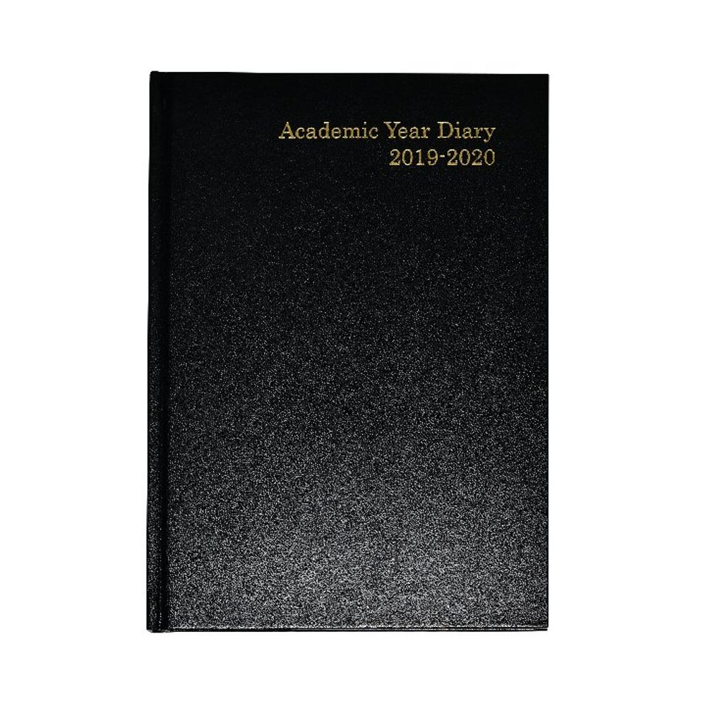 Black A5 Week to View 2019-20 Academic Diary - KF3A5ABK19