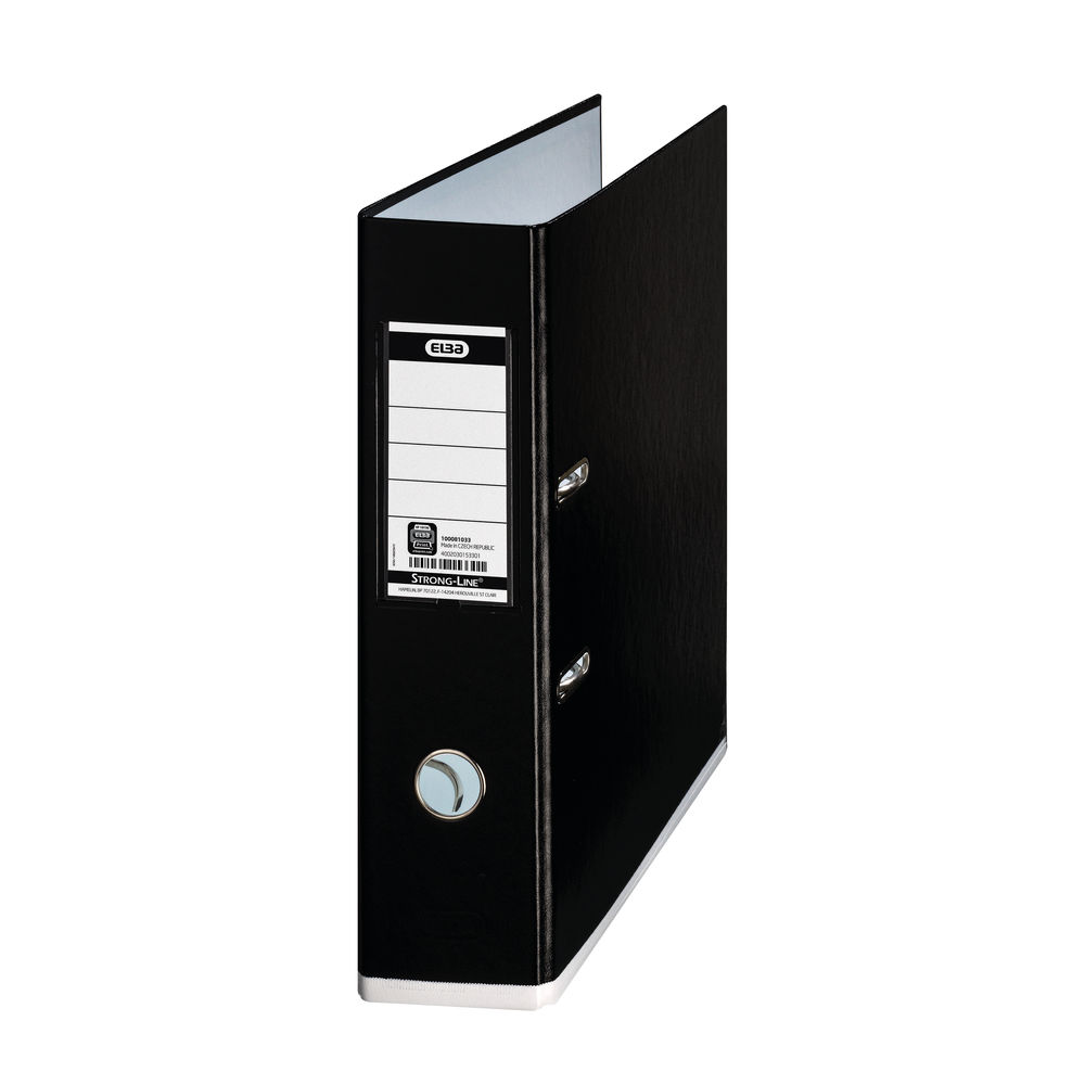 Elba Mycolour A4 Black/White Lever Arch File 80mm - 100081033