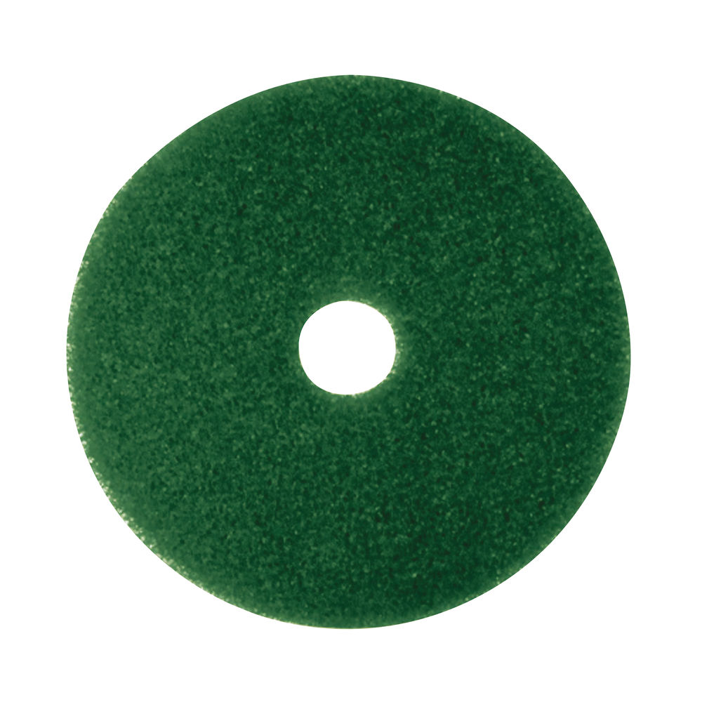 3M 380mm Green Scrubbing Floor Pads, Pack of 5 - 2NDGN15