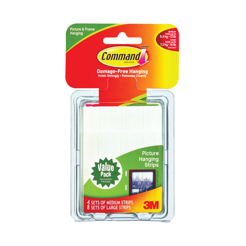 Command Picture Hanging Strips, Pack of 24 | 17209