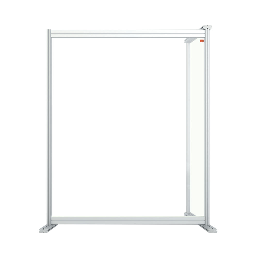 Nobo 800mm Clear Acrylic Modular Desk Divider Extension