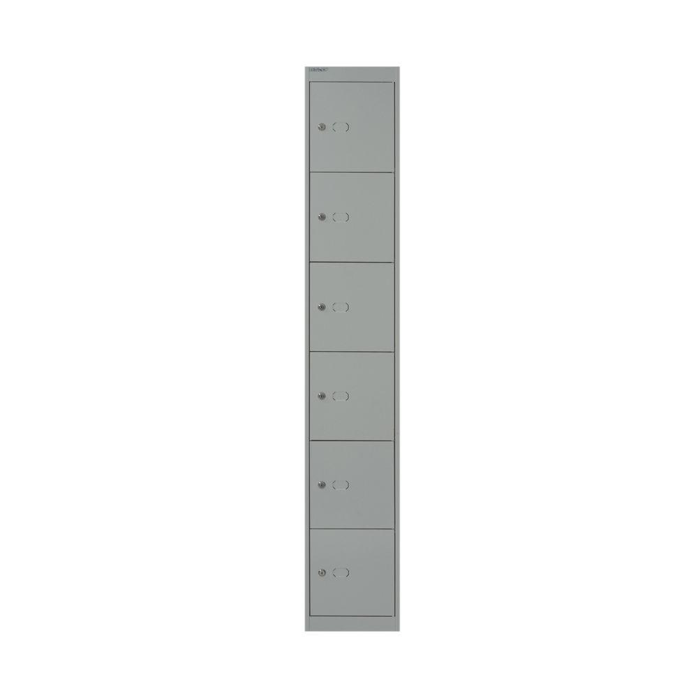 Bisley D457mm Goose Grey 6 Door Locker - CLK186 GOOSE