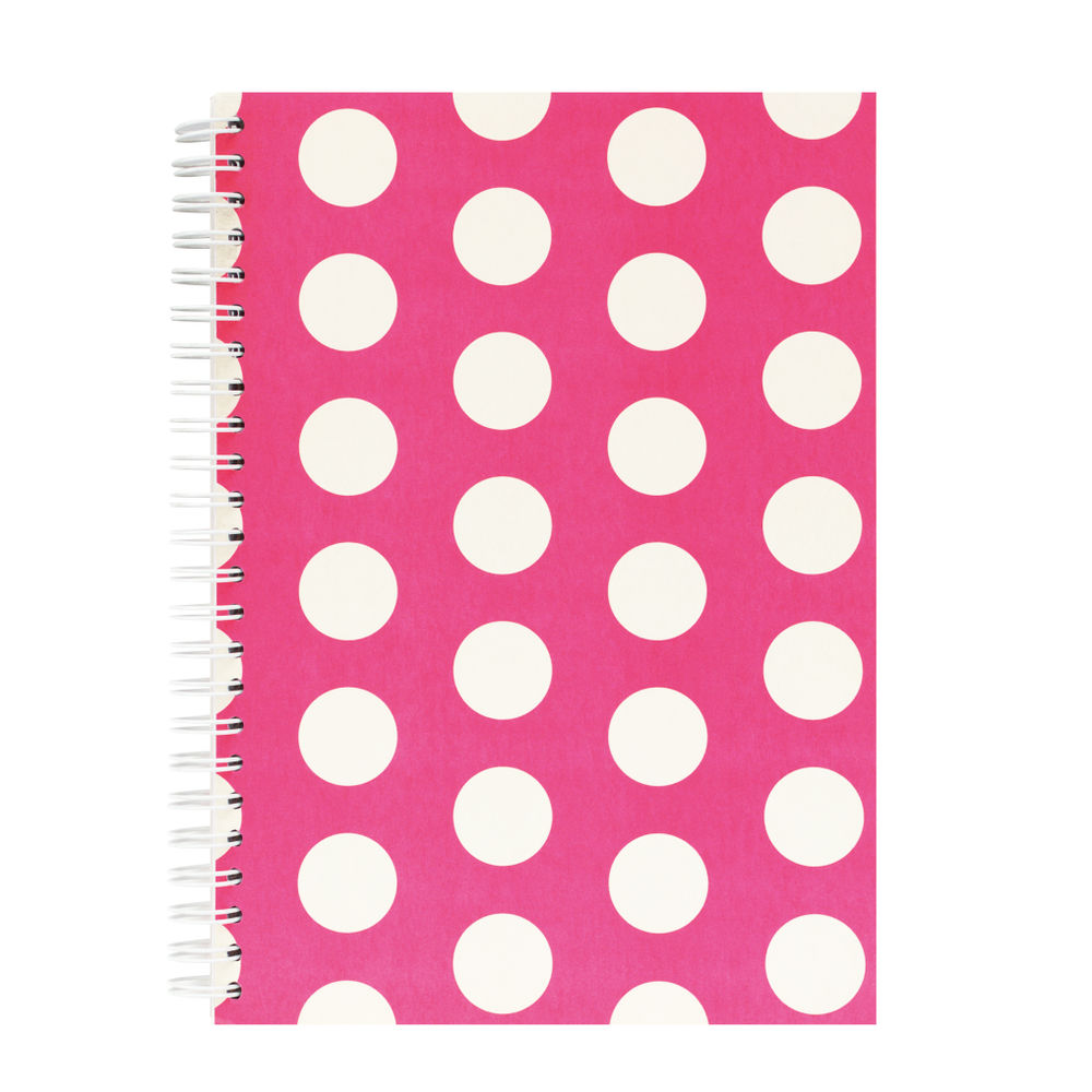 Go Stationery Pink Big Polka Dot A5 Notebook - 5NC401A