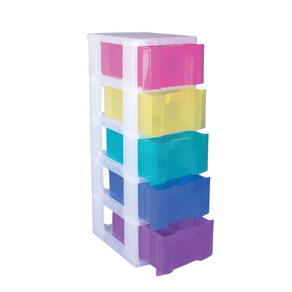 Really Useful Storage Tower With 5 Drawers Multicoloured DT1-9214