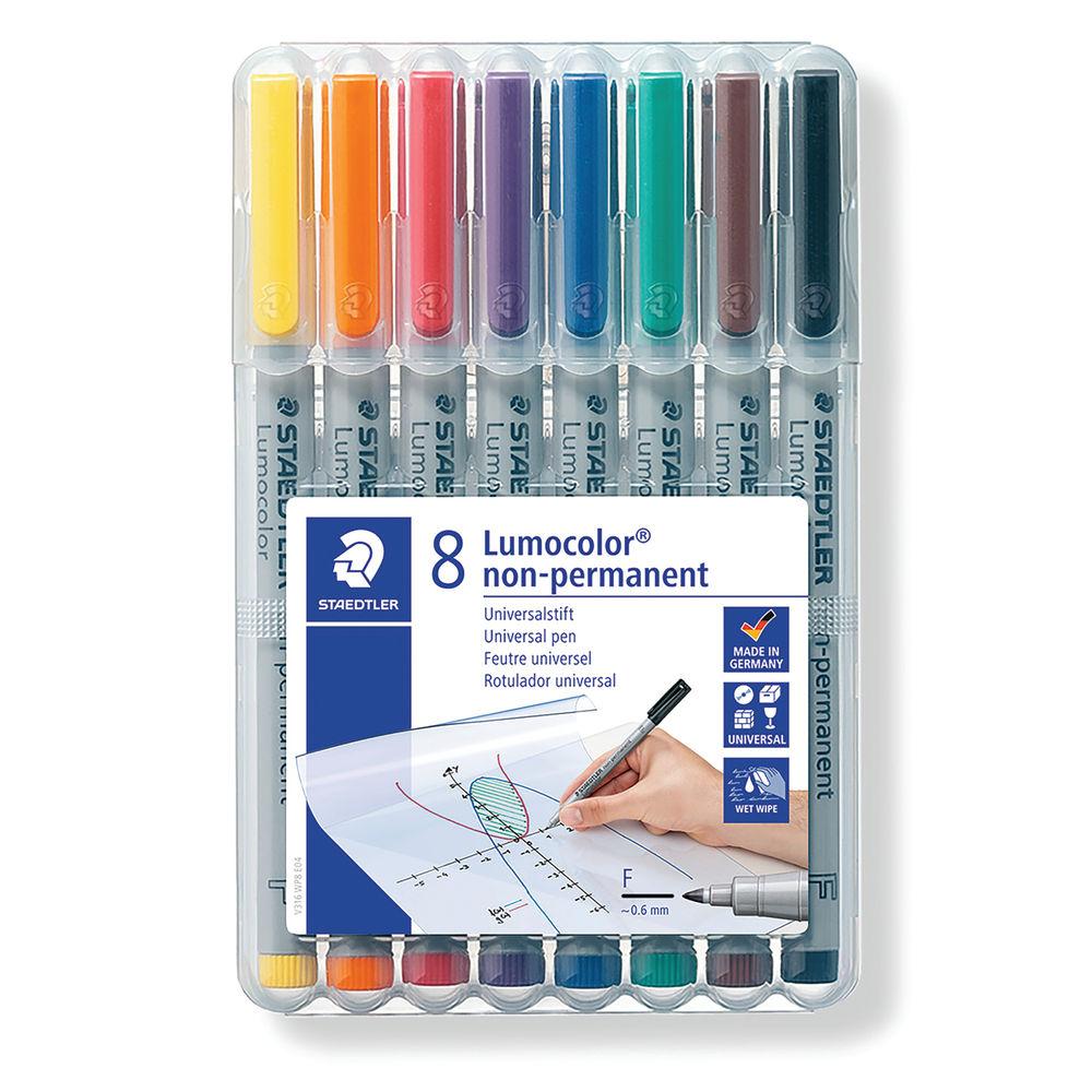 Staedtler Lumocolor Non-Permanent Medium Assorted (Pack of 8) 316 WP8
