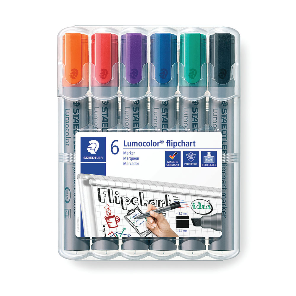 Staedtler Flipchart Marker Assorted (Pack of 6) 356Wp6