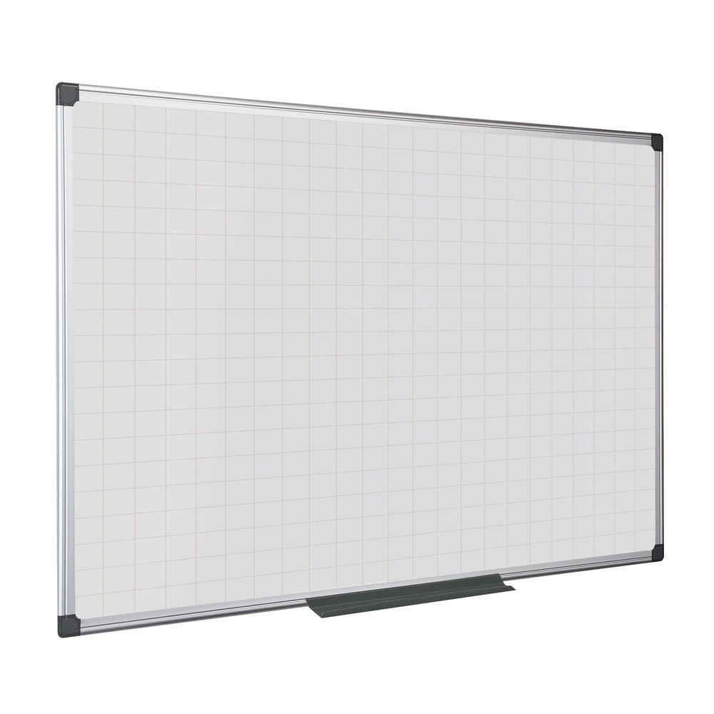 Bi-Office 900 x 600mm Maya Magnetic Gridded Whiteboard - MA0347170
