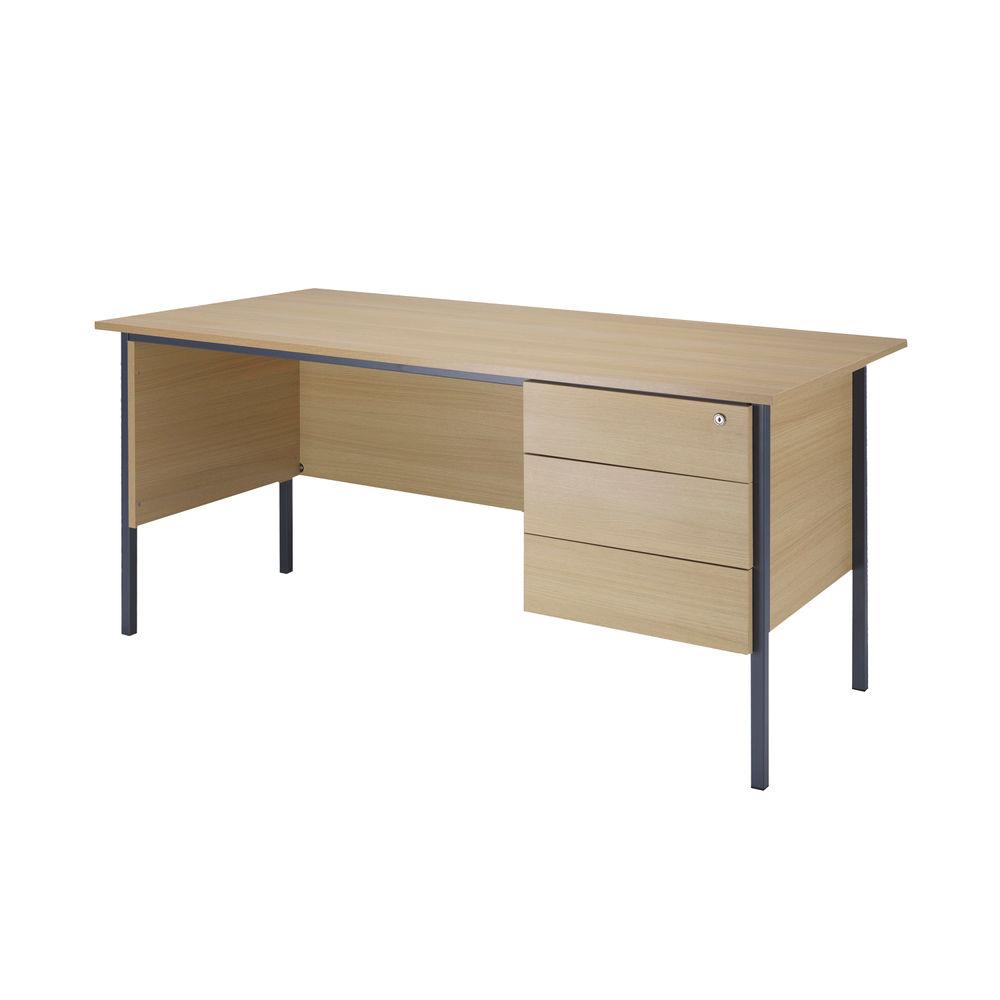Serrion 1500mm Ferrera Oak 3-Drawer Desk – KF838378
