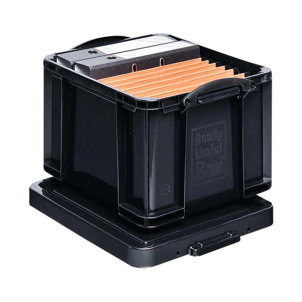 Really Useful 35 Litre Black Recycled Plastic Storage Box - 35BKR