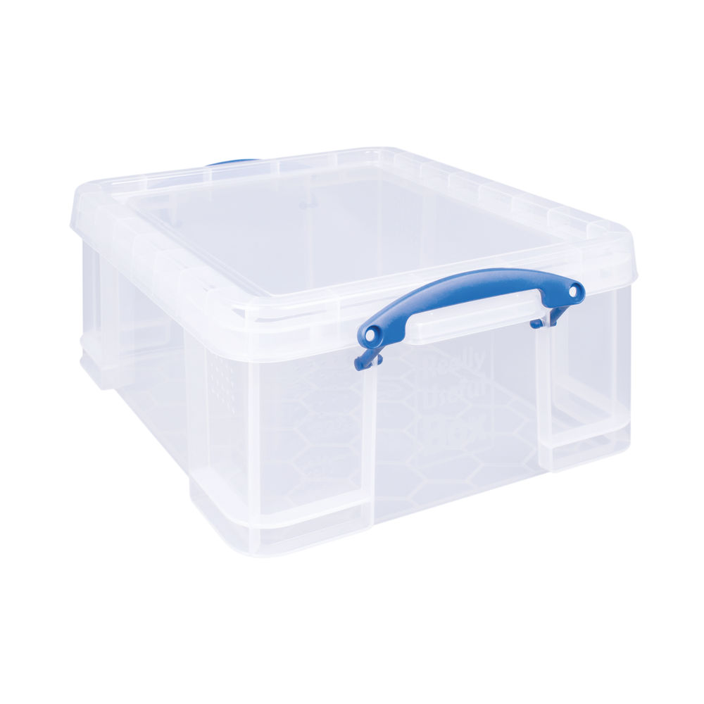 Really Useful 18 Litre Clear Plastic Storage Box - EBCCD