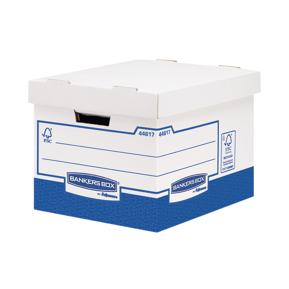 Bankers Box Basics Standard Heavy Duty Storage Boxes, Pack of 10 - 4461701