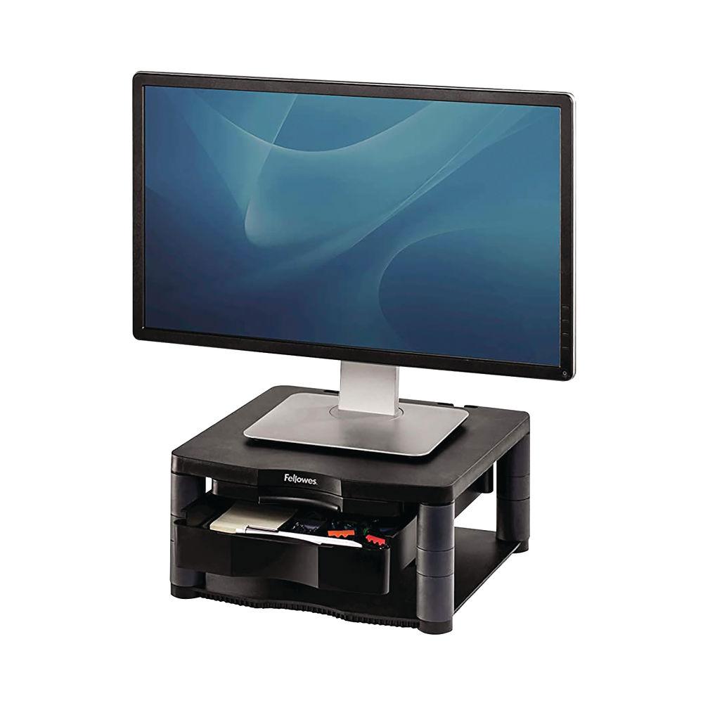 Fellowes Graphite Premium Monitor Riser Plus - 9169501