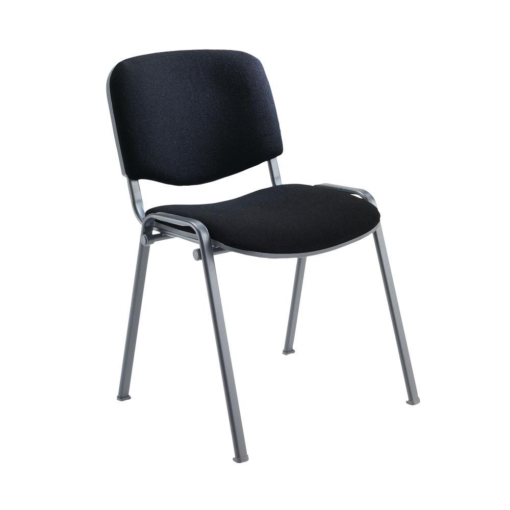 Jemini Ultra Charcoal/Black Multipurpose Stacking Chair