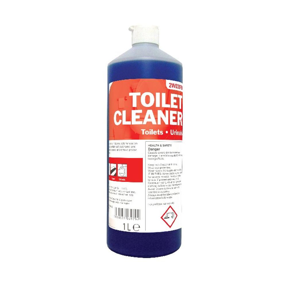 2Work Daily Use Perfumed Toilet Cleaner 1 Litre Pack of 12 - 510 PACK