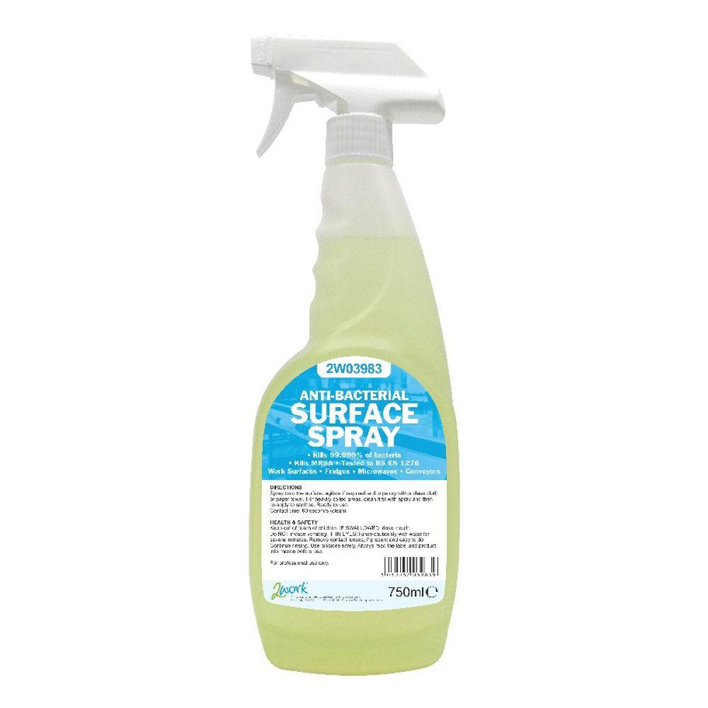 2Work Antibacterial Surface Spray 750ml (Pack of 6) 242 PACK