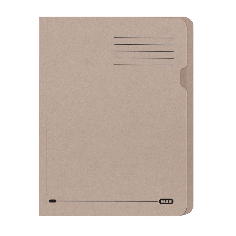 Elba Square Cut Folder Lightweight 180gsm A4 Buff 100090117