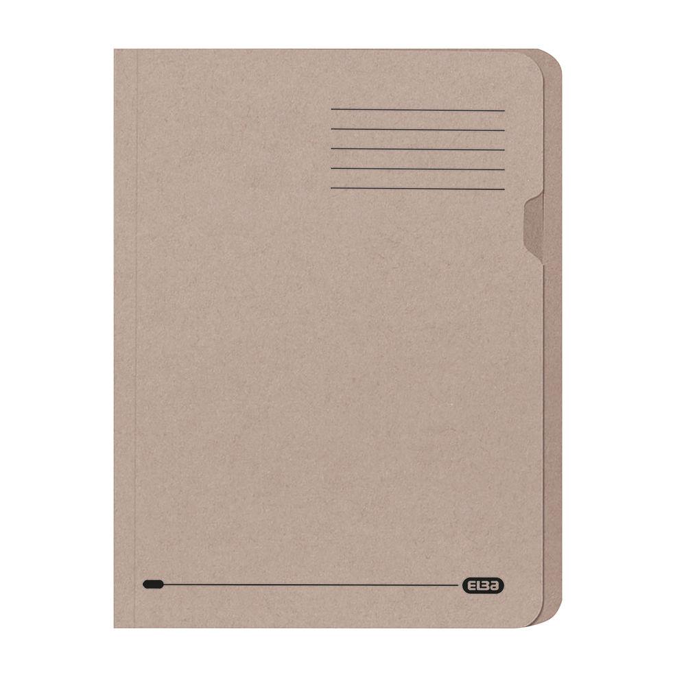 Elba Manilla Buff A4 Square Cut Folders 180gsm - Pack of 100 - GX20142