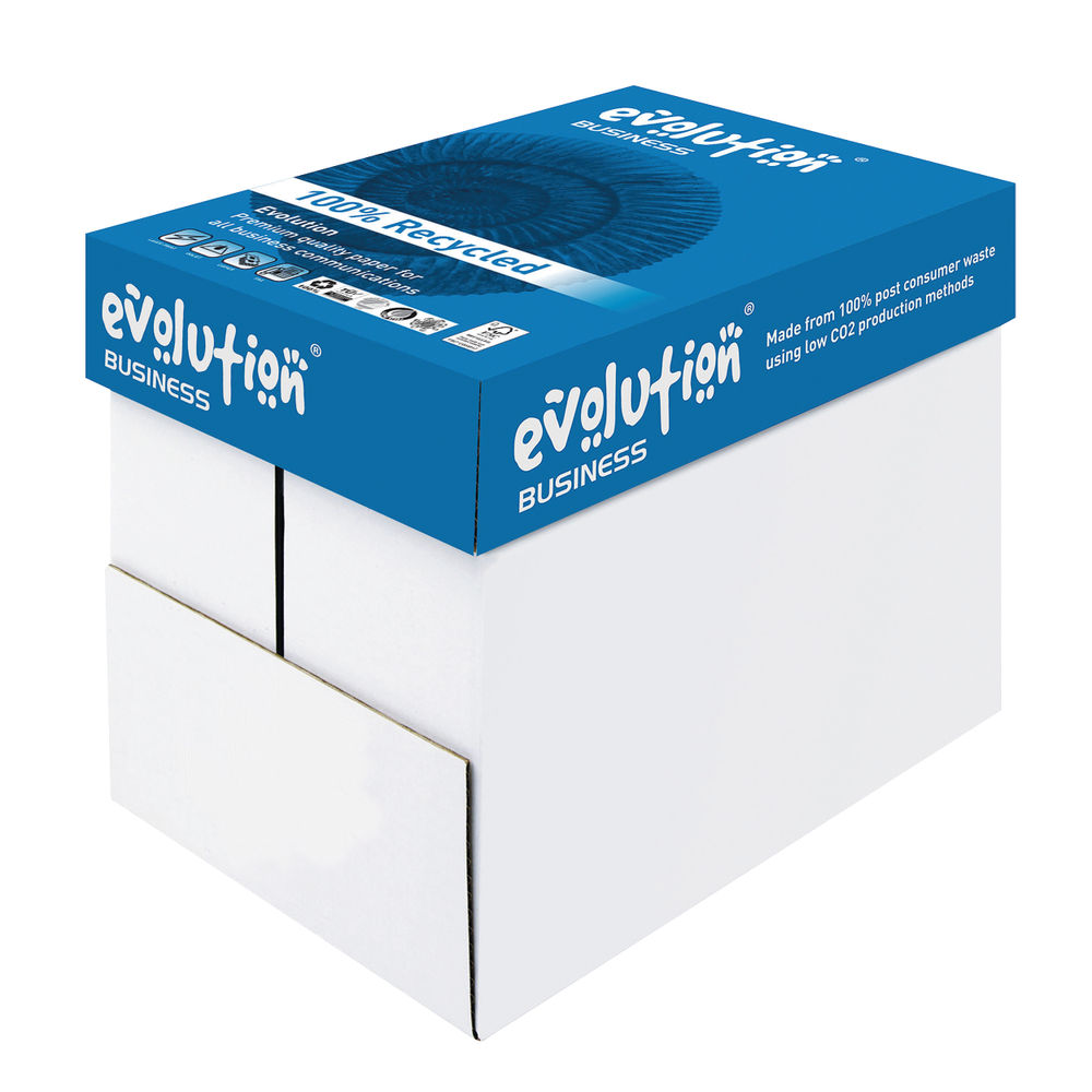 Evolution Business White A4 Paper, 80gsm - 2500 Sheets / 1Box - EVBU2180