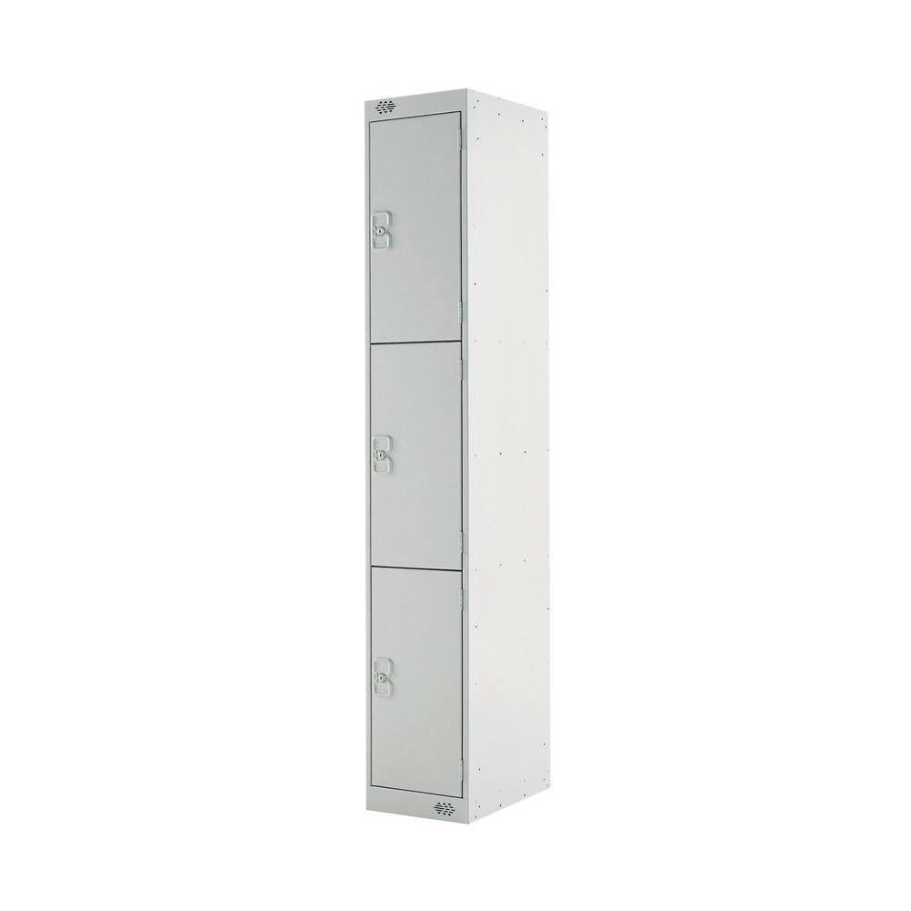 Three Compartment D300mm Light Grey Locker - MC00014