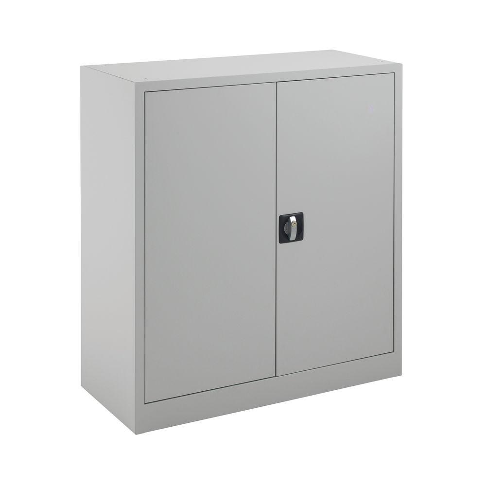 Talos 1000mm Grey Double Door Stationery Cupboard