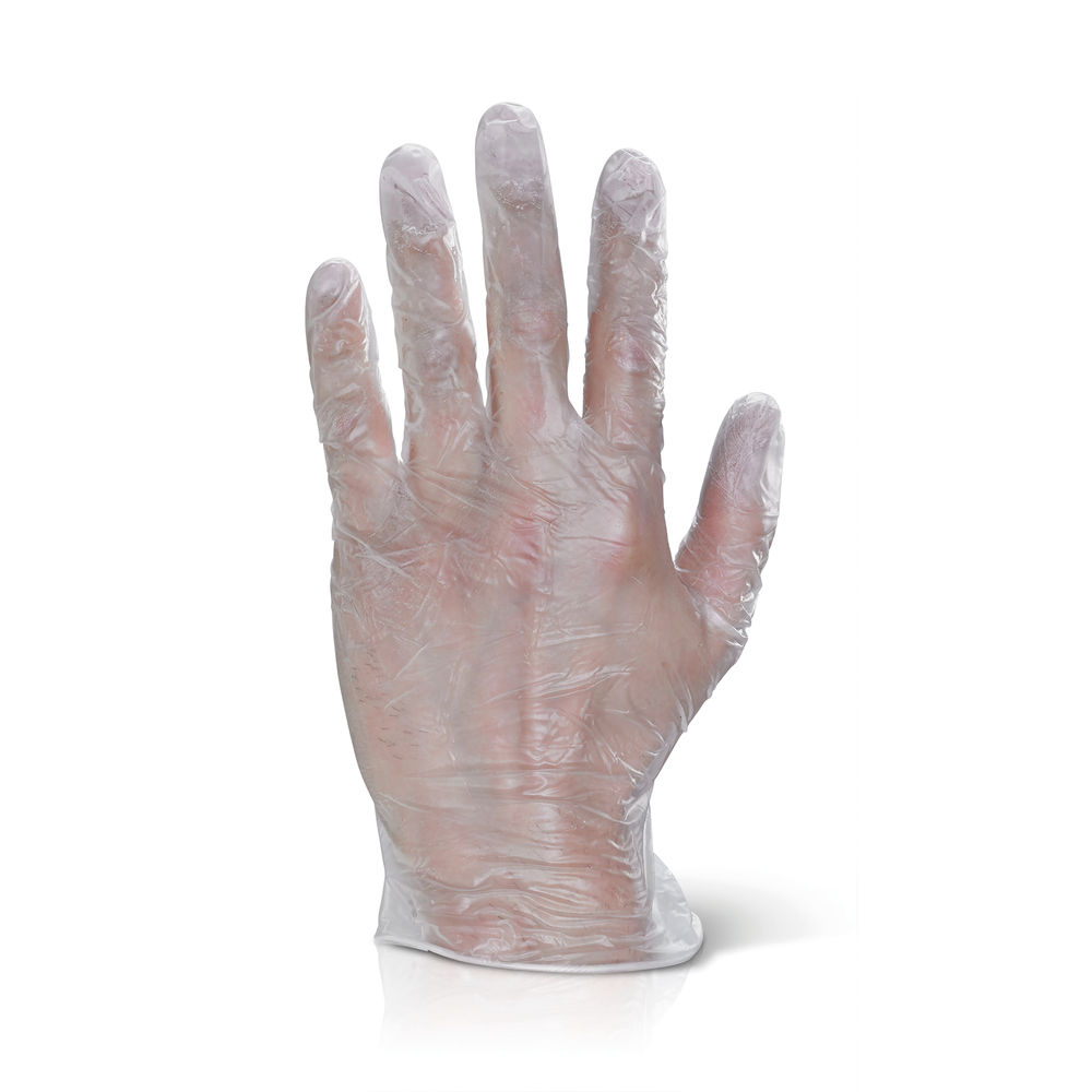 Click Vinyl Disposable Powder Free Gloves Extra Large Clear (Pack of 100) VDGPFXL
