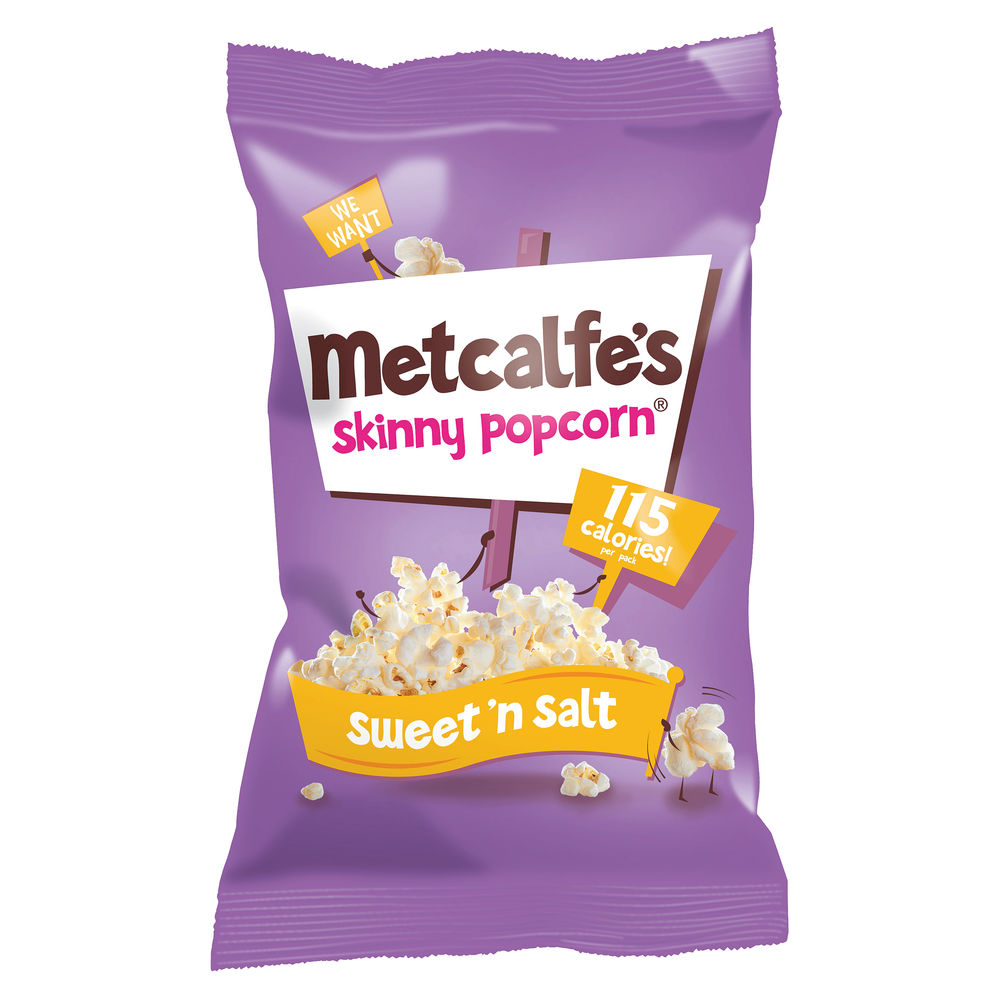 Metcalfe's Sweet n Salt Skinny Popcorn, Pack of 24 | 0401167
