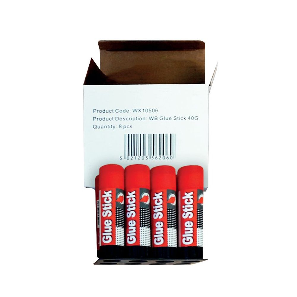 Large 40g Glue Sticks, Pack of 8 - WX10506