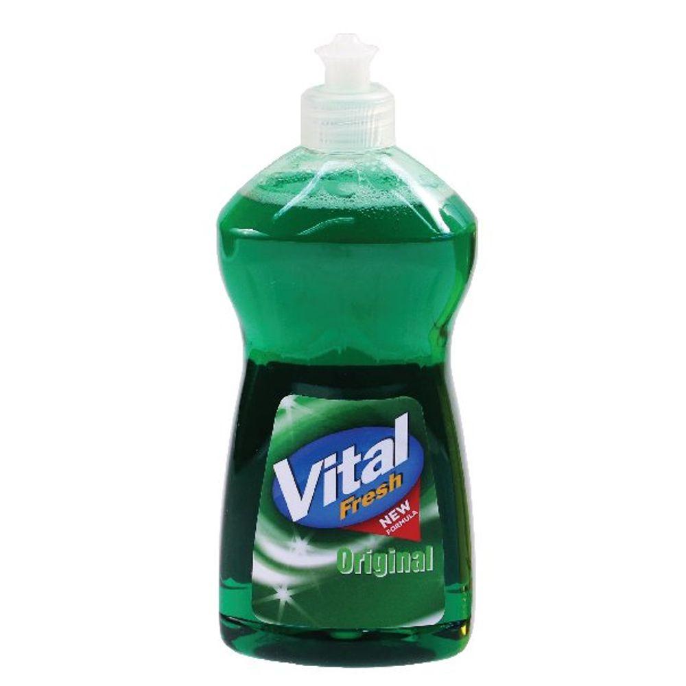 Vital 500ml Fresh Washing Up Liquid, Pack of 12 - 800-158-0003