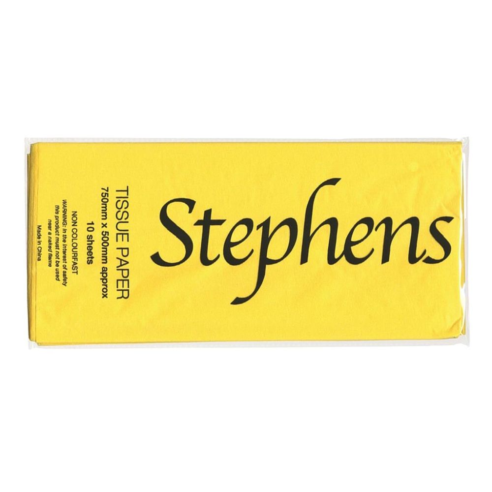 Stephens 750 x 500 mm Yellow Tissue Paper (10 Sheets) - RS320159