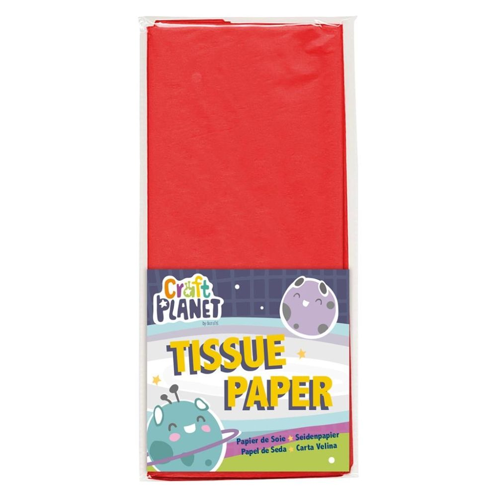 Stephens 750 x 500 mm Red Tissue Paper (10 Sheets) - RS320357