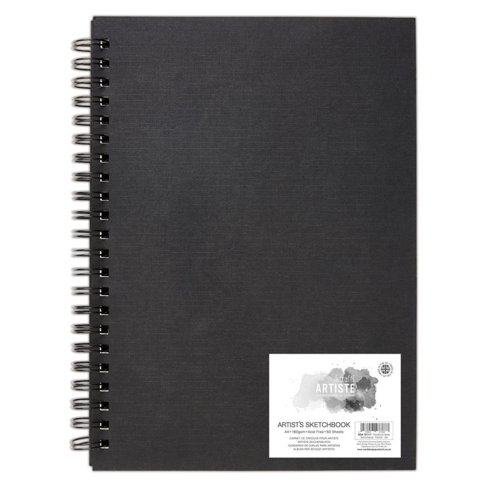 Artiste A4 Hardback Spiral Sketchbook – DOA 101117