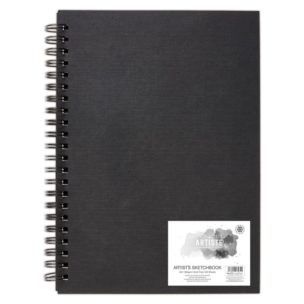 Artiste A3 Hardback Spiral Sketchbook – DOA 101119