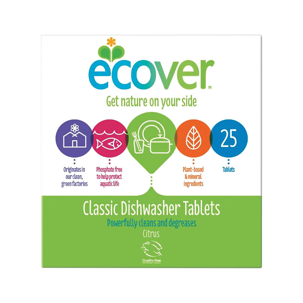 Ecover Dishwasher Tablets, Pack of 25 - 1002089