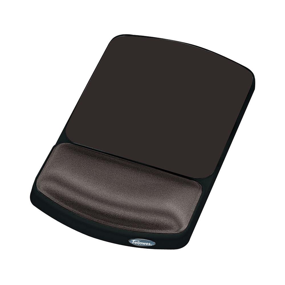 Fellowes Premium Black Adjustable Gel Mouse Pad - 9374001