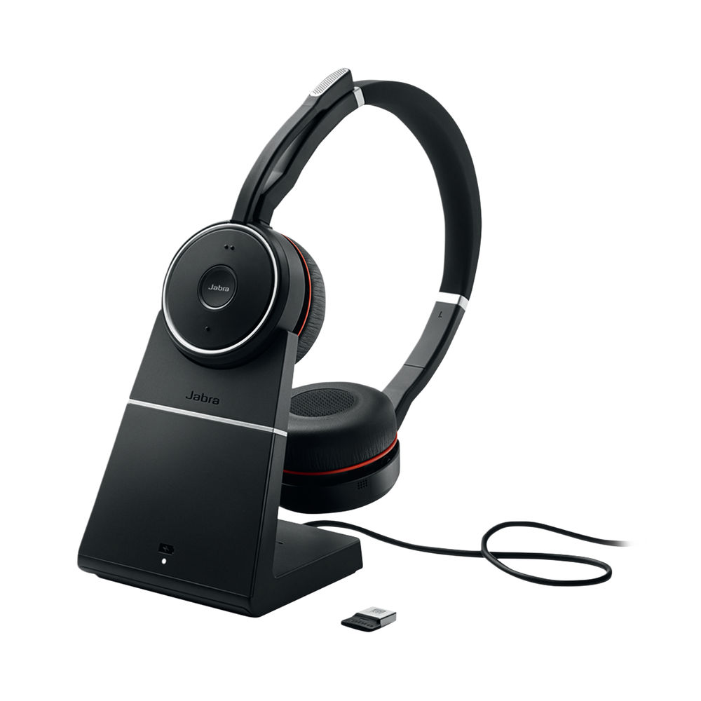 Jabra Evolve 75 Wireless UC Headset with Charging Stand - 7599-838-199
