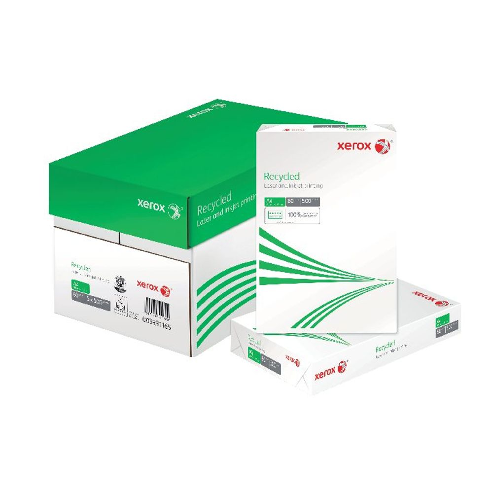 Xerox A4 80gsm Recycled Paper, Pack of 2500 - 003R91165