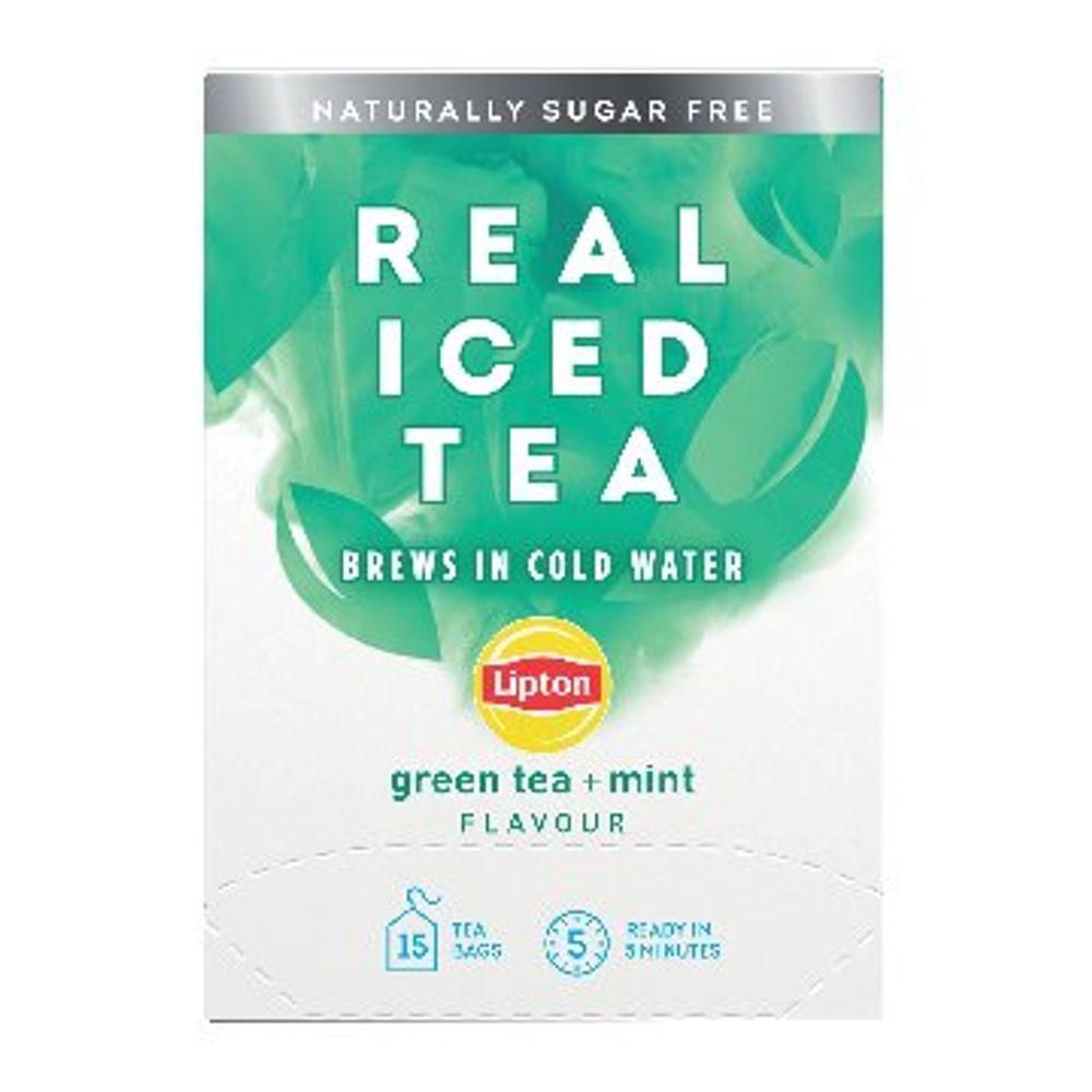 Lipton Mint Green Tea Real Iced Tea, Pack of 15 - 67737998
