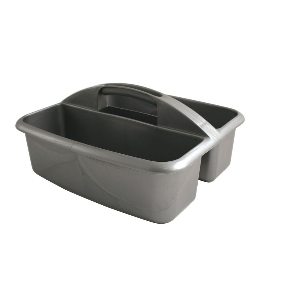 Silver 2 Compartment Cleaners Carry Tray - VOW/CARRY.01