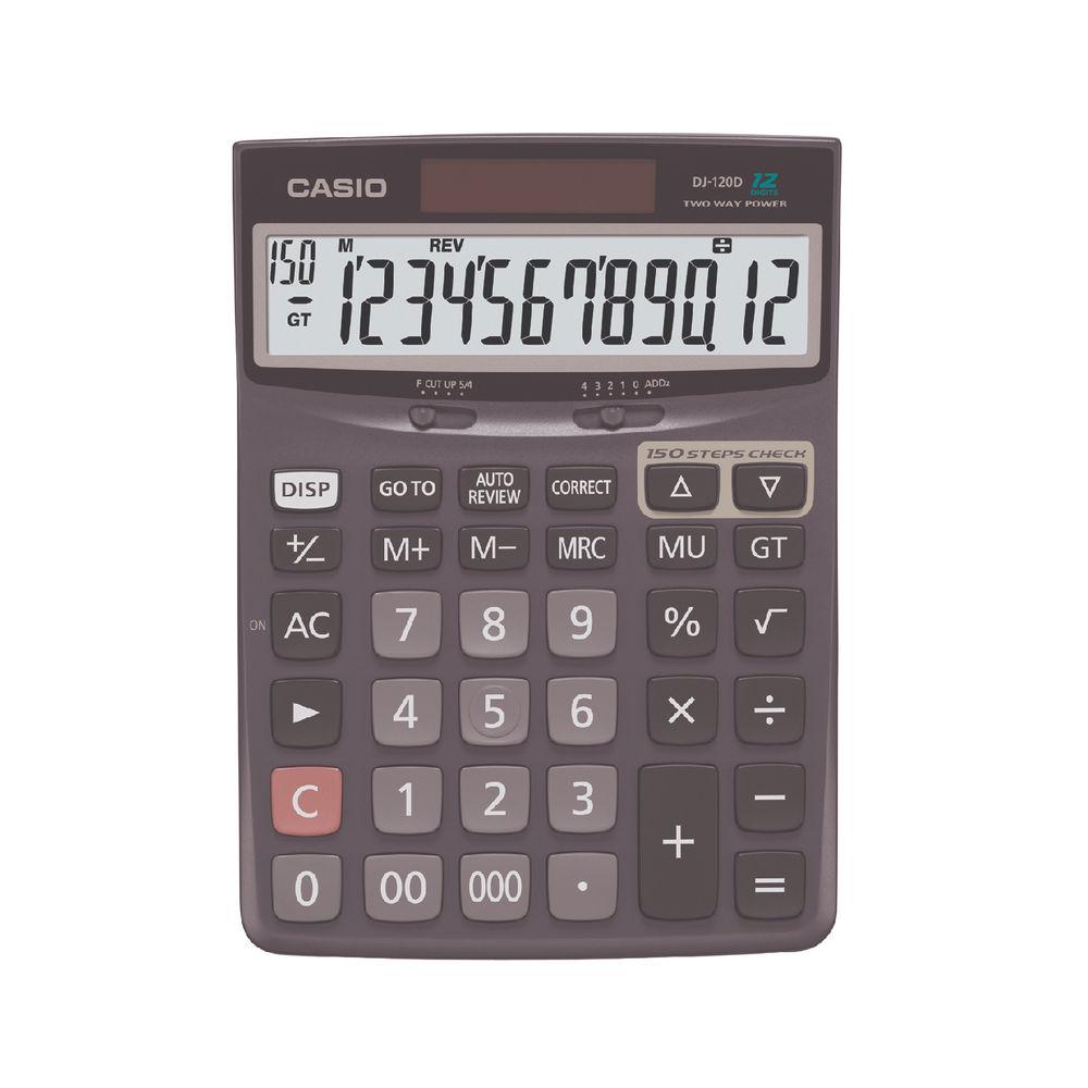 Casio DJ-120D Desktop Calculator, 12 Digit Display - CS18596