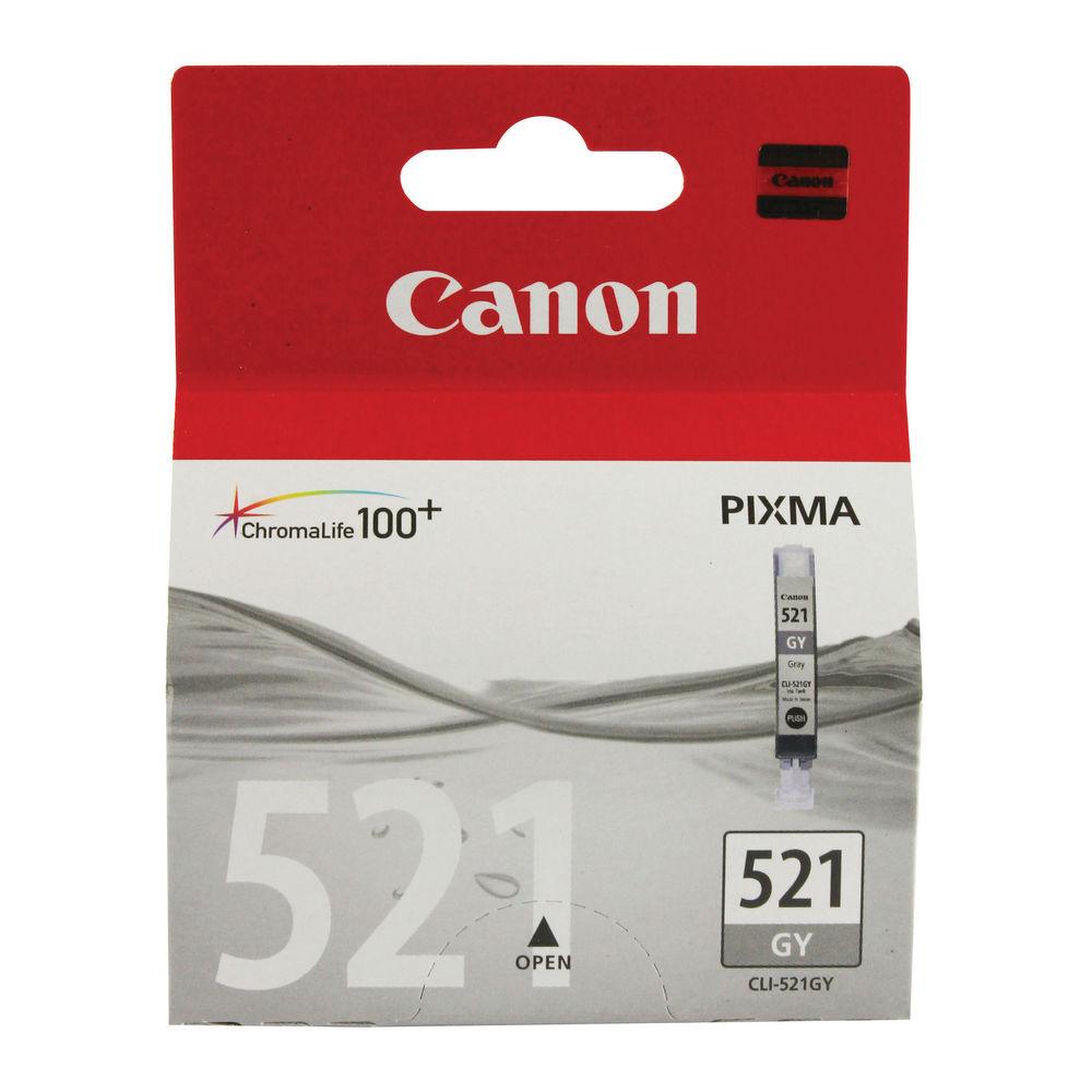 Canon CLI-521GY Grey Ink Cartridge - 2937B001