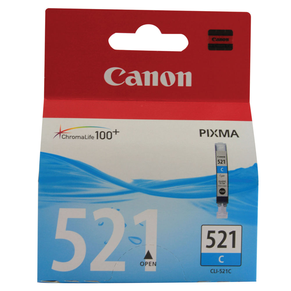 Canon CLI-521C Cyan Ink Cartridge - CLI-521 C