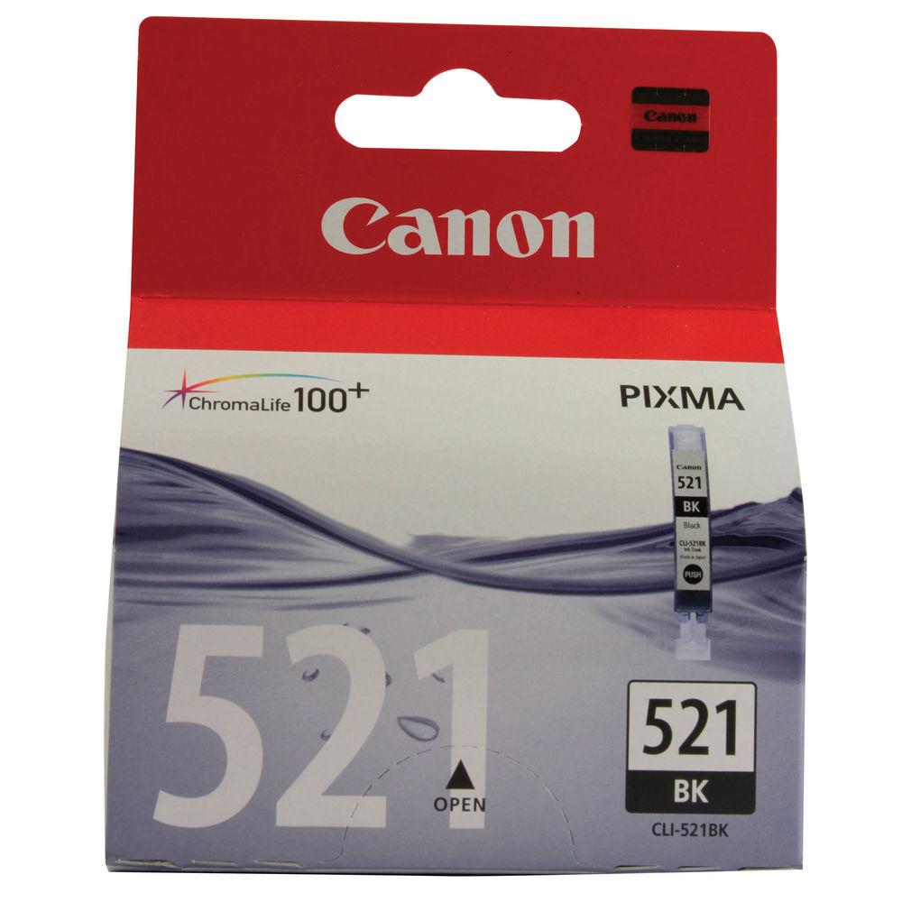 Canon CLI-521BK Photo Black Ink Cartridge 2933B001