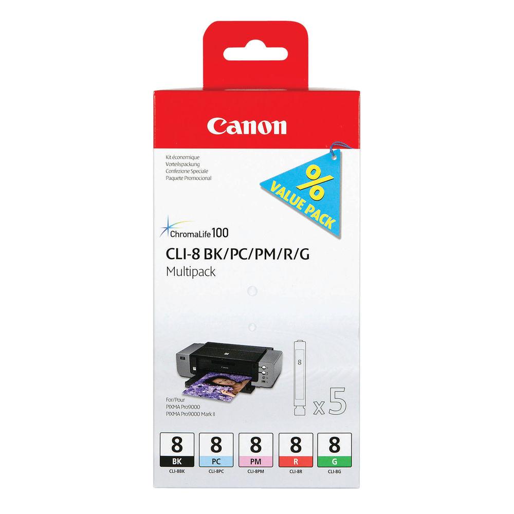 Canon CLI-8 Black and Photo Colour Ink Multipack - CLI-8