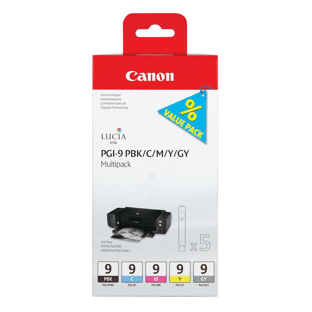 Canon PGI-9  BK/C/M/Y/GY Ink Cartridge 1034B013