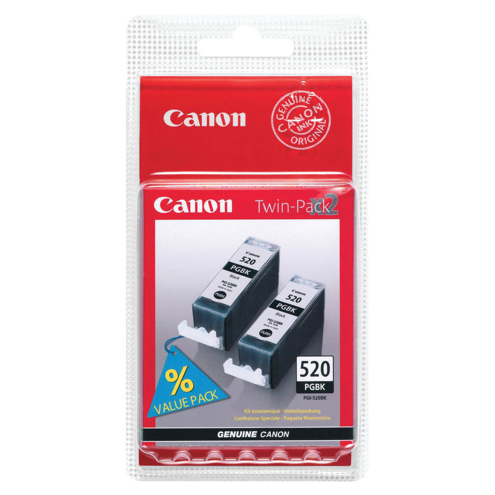 Canon PGI-520 Black Ink Twin Pack - PGI-520BK