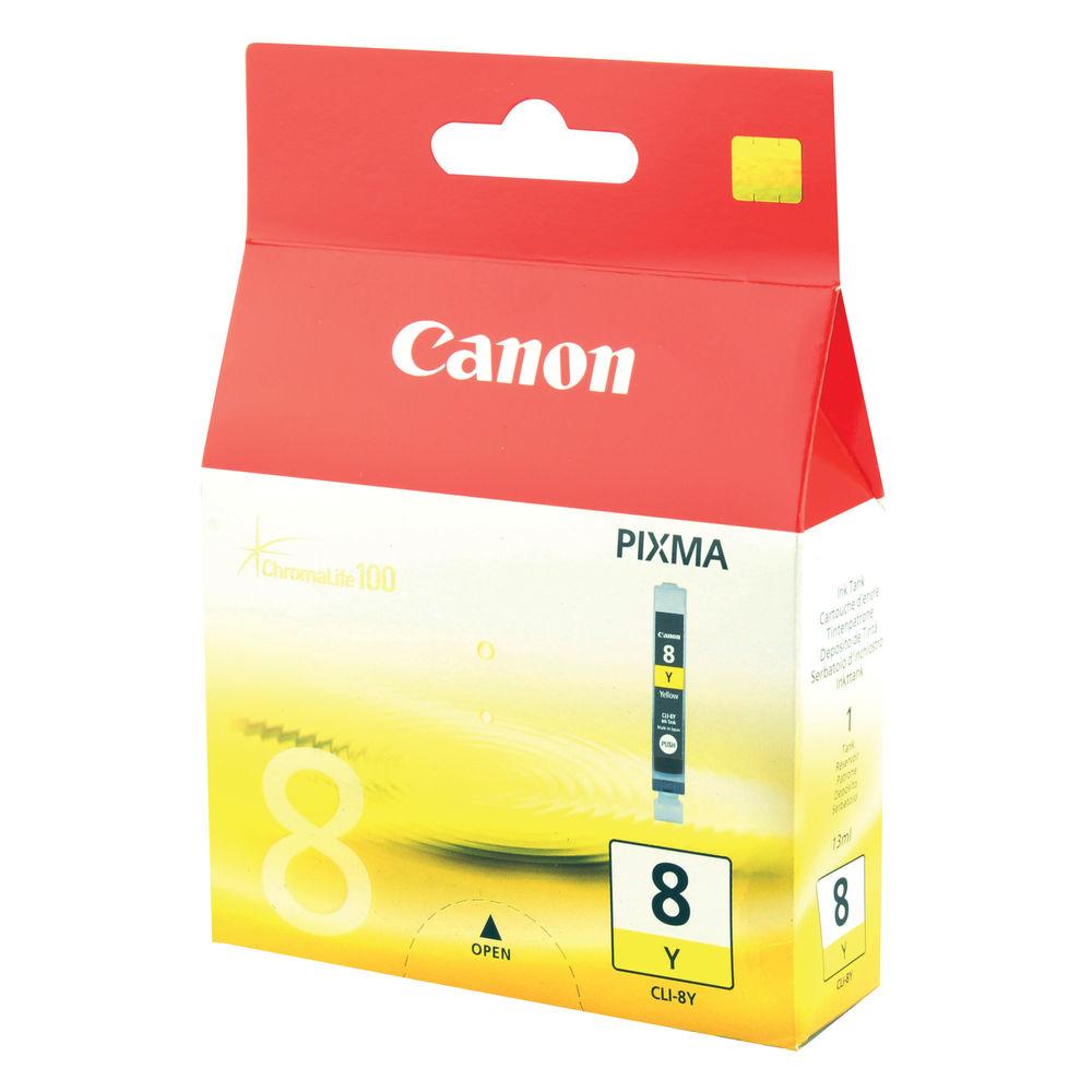 Canon CLI-8Y Yellow Ink Cartridge - CLI-8Y