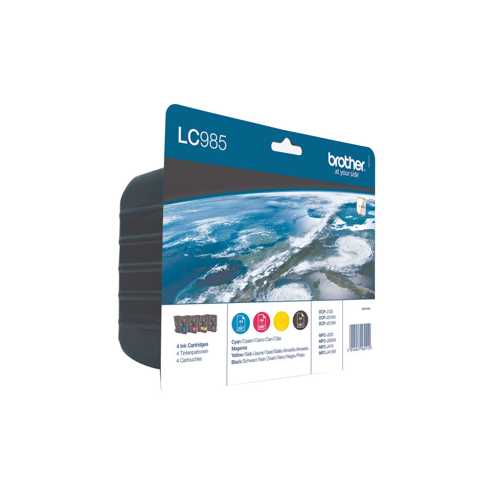 Brother LC985 Ink Cartridge Multipack - LC985VALBP