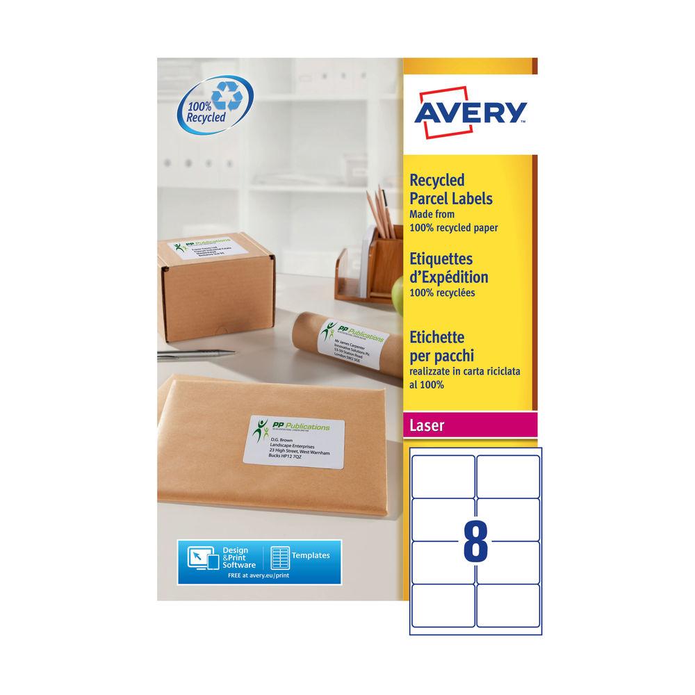 Avery QuickPEEL Recycled Laser Address Labels 99.1x67.7mm, Pk of 800 - AV81508