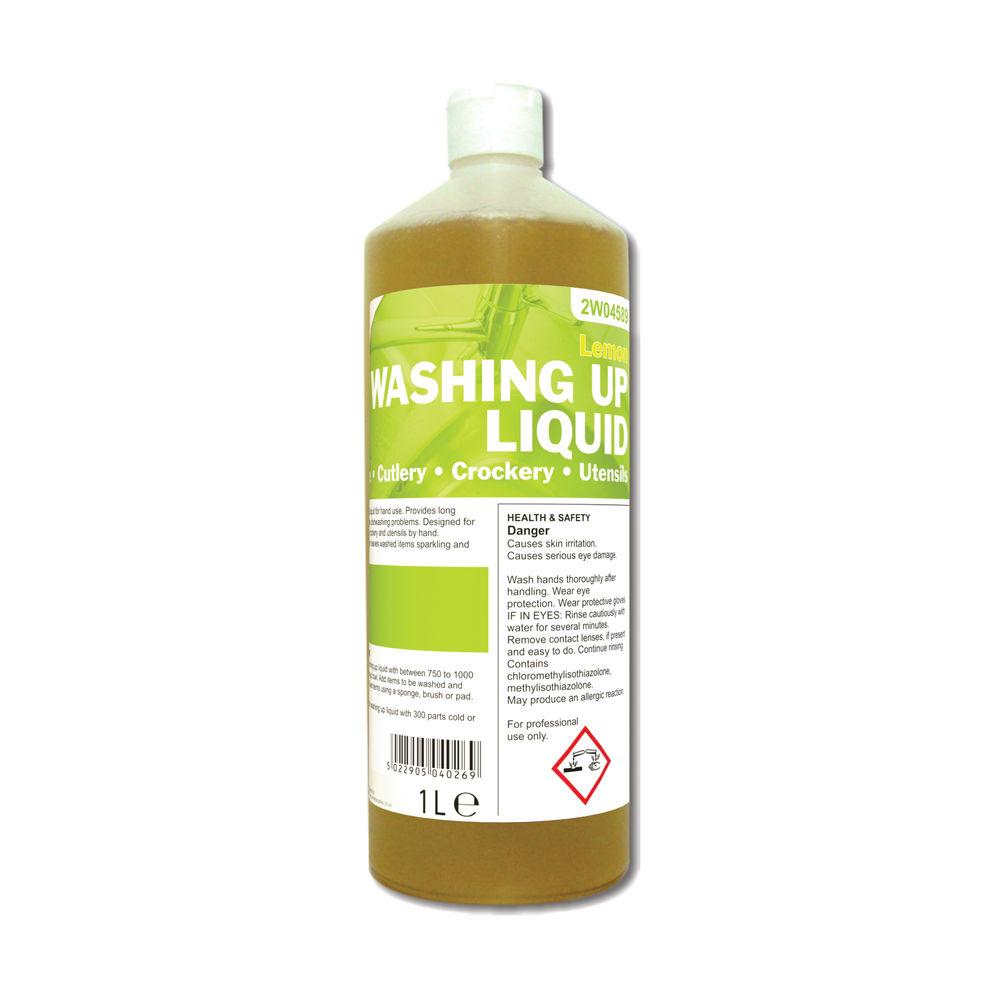2Work Washing Up Liquid Lemon 1 Litre - 401