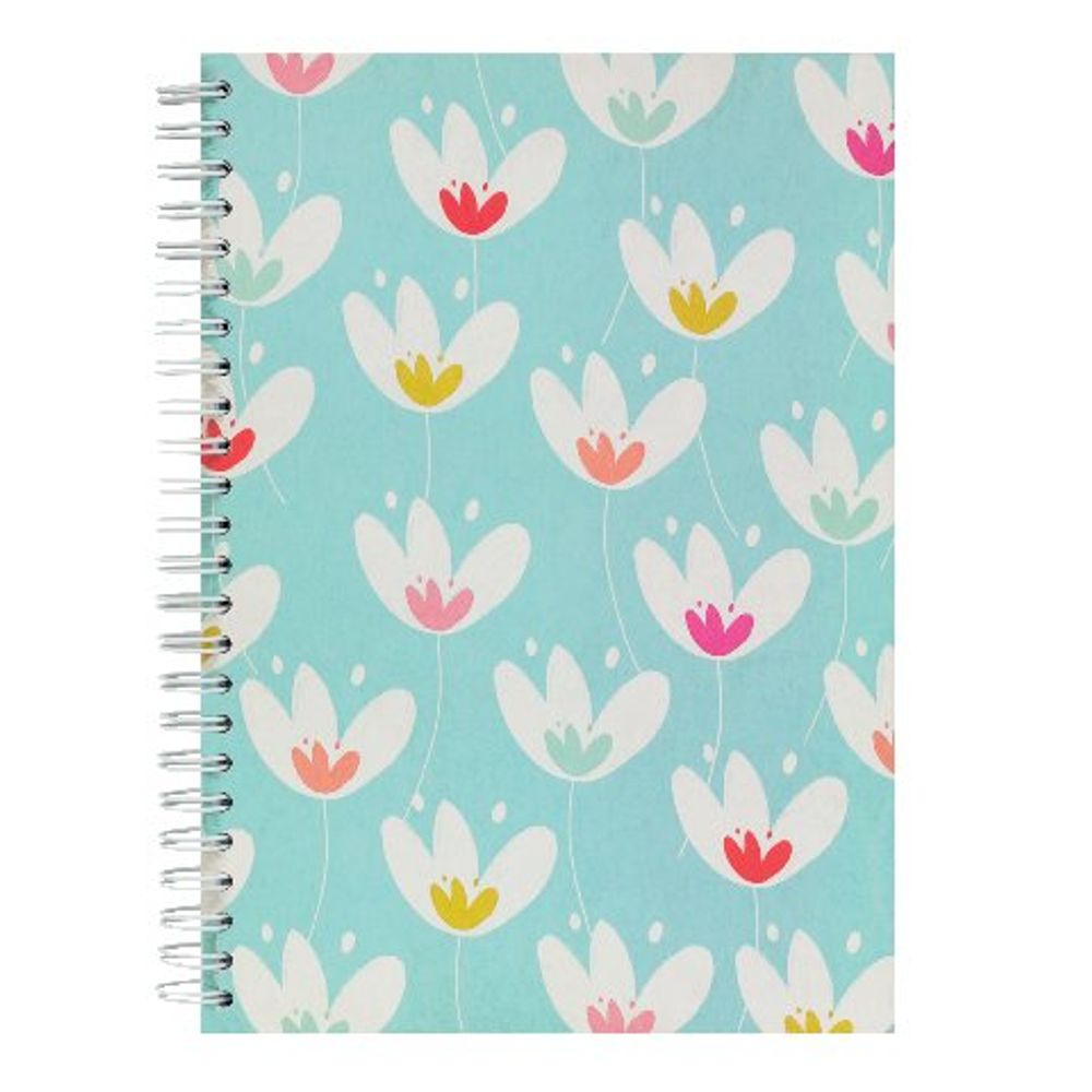 Go Stationery A5 Teal Tulip Garden Notebook | 5NC165